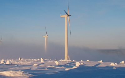 Fire detection system for wind turbines in arctic climates